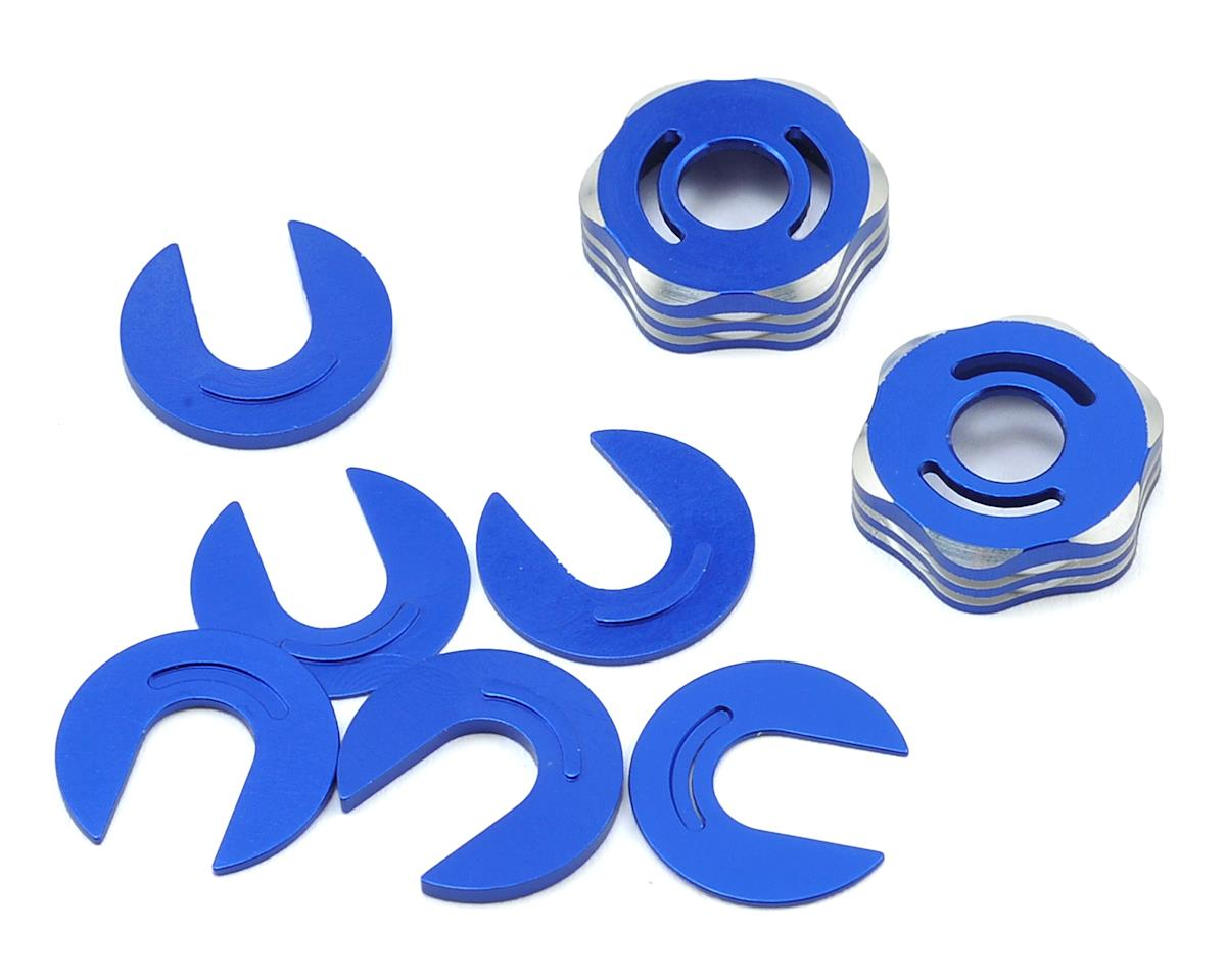 JConcepts RC8B3/RC8T3 Suspension Arm Cap & Camber Shim Set (Blue) (Team Associated RC8T3e)