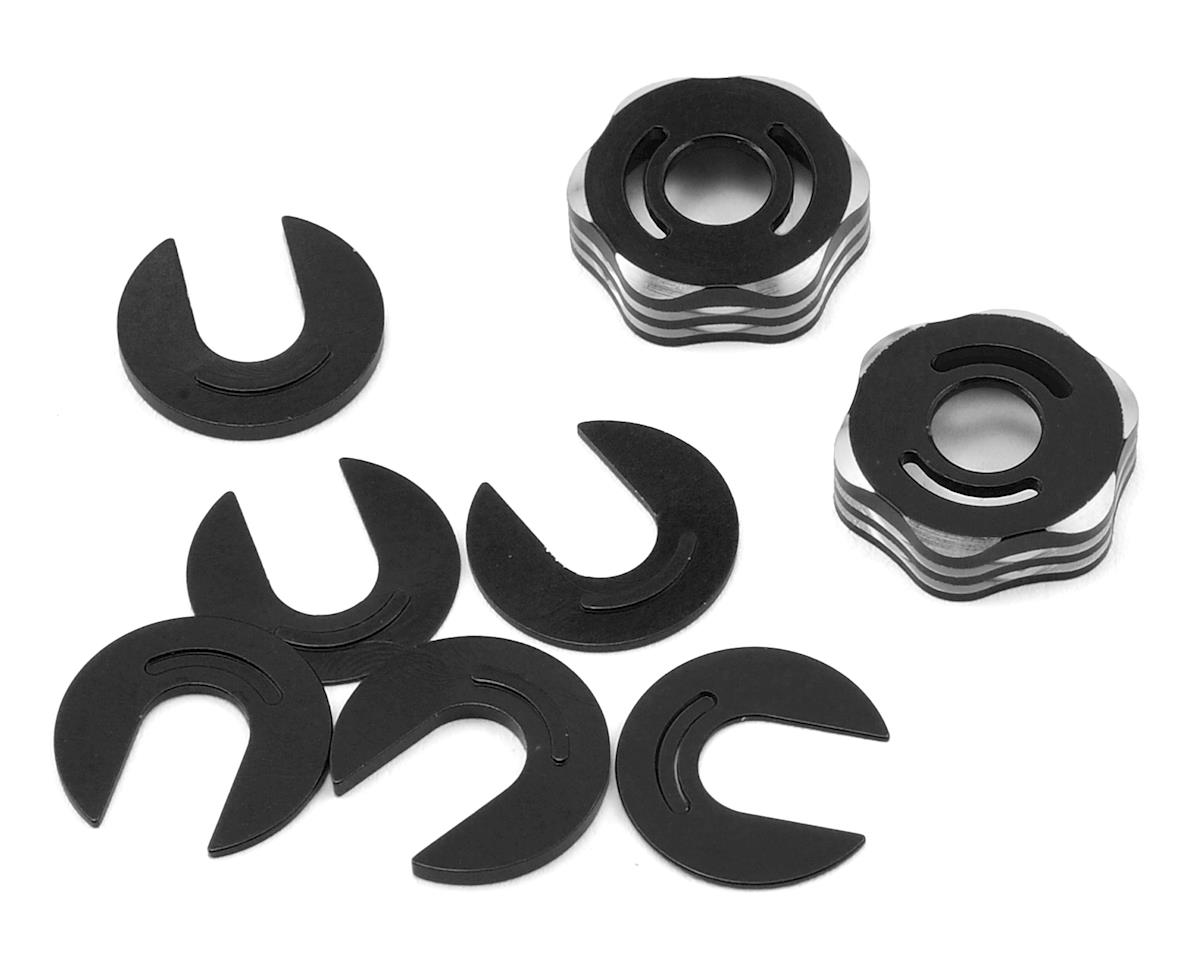RC8B3/RC8T3 Suspension Arm Cap & Camber Shim Set (Black) by JConcepts