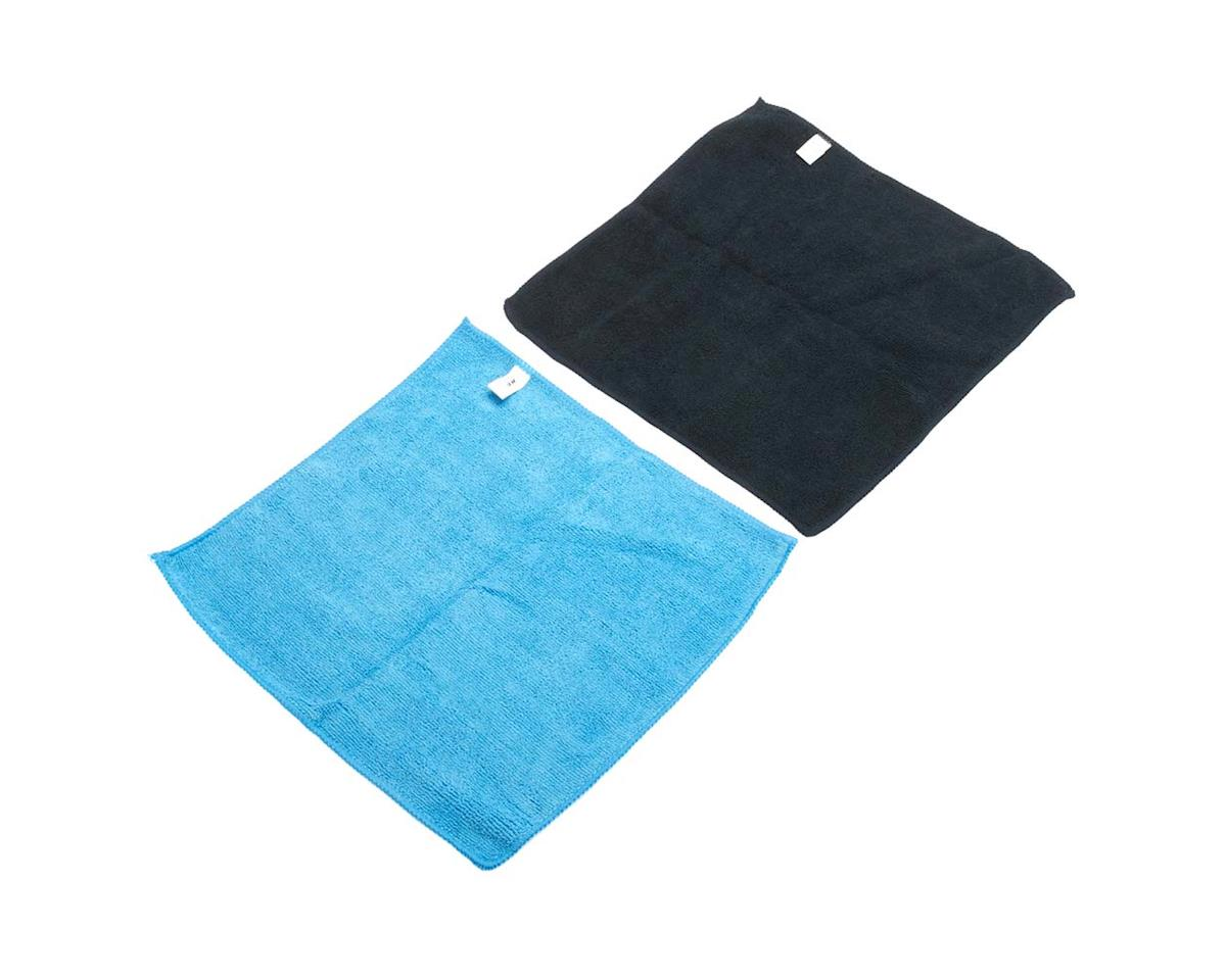 JConcepts 2539 Microfiber Towel Blue/Black (2)