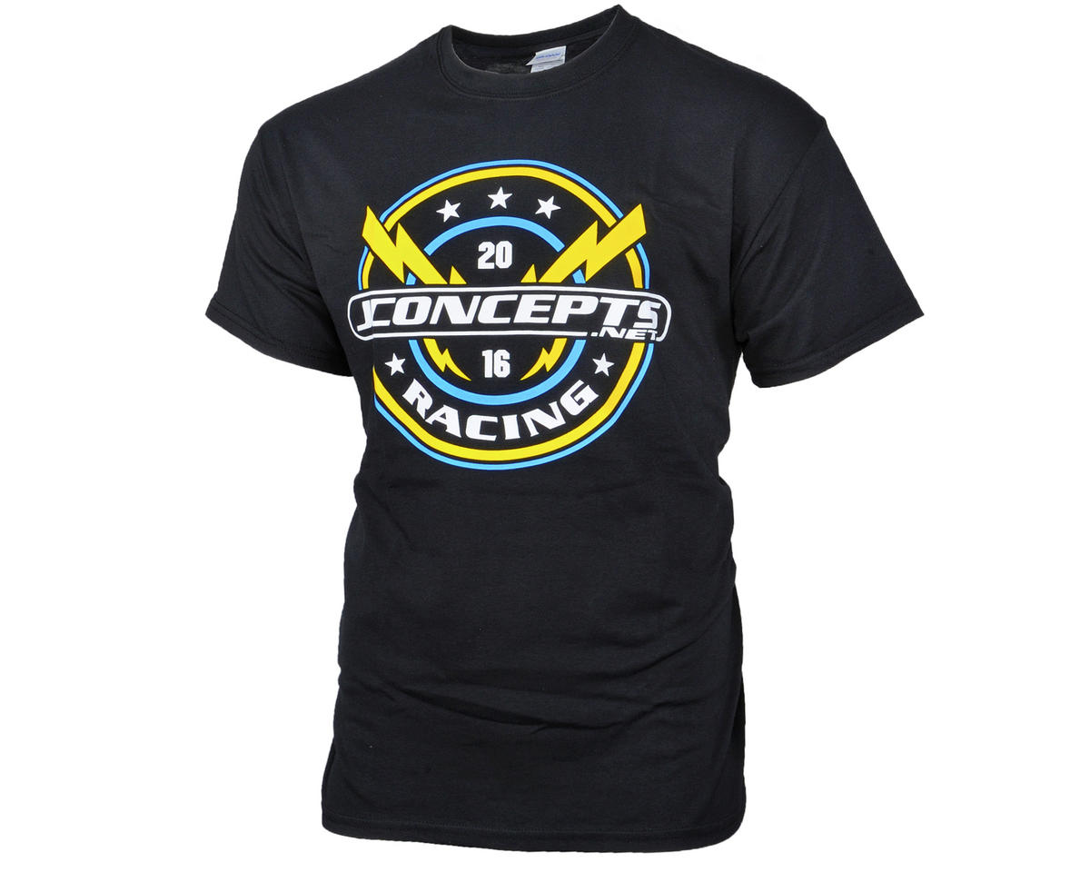 JConcepts Lightning Bolt 2016 Team Black T-Shirt (2XL)