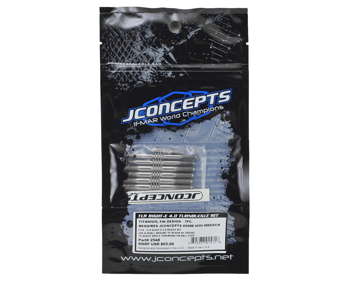 JConcepts TLR 8ight-E 4.0 Buggy Fin Titanium Turnbuckle Set (7)