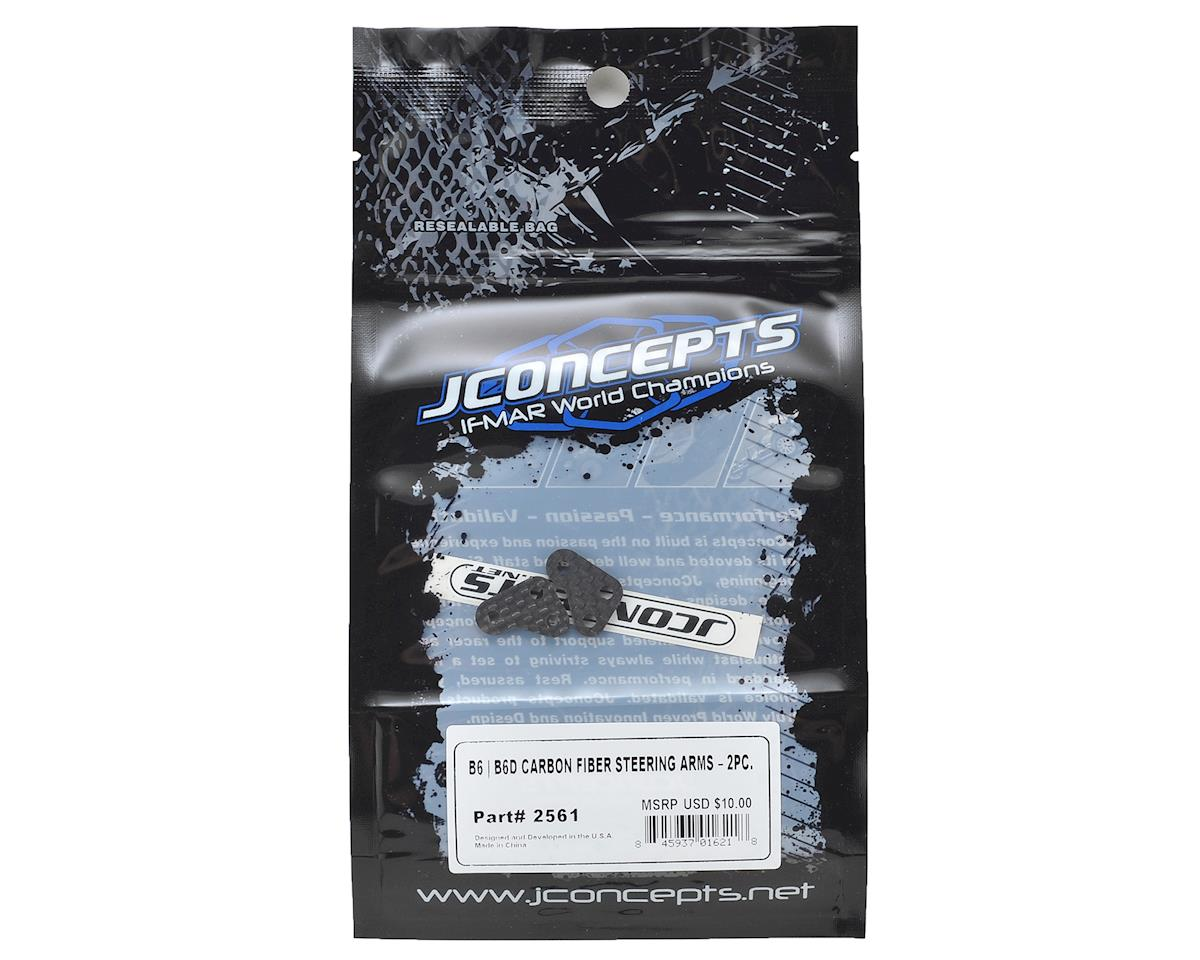 JConcepts B6 Carbon Fiber Steering Arms (2)