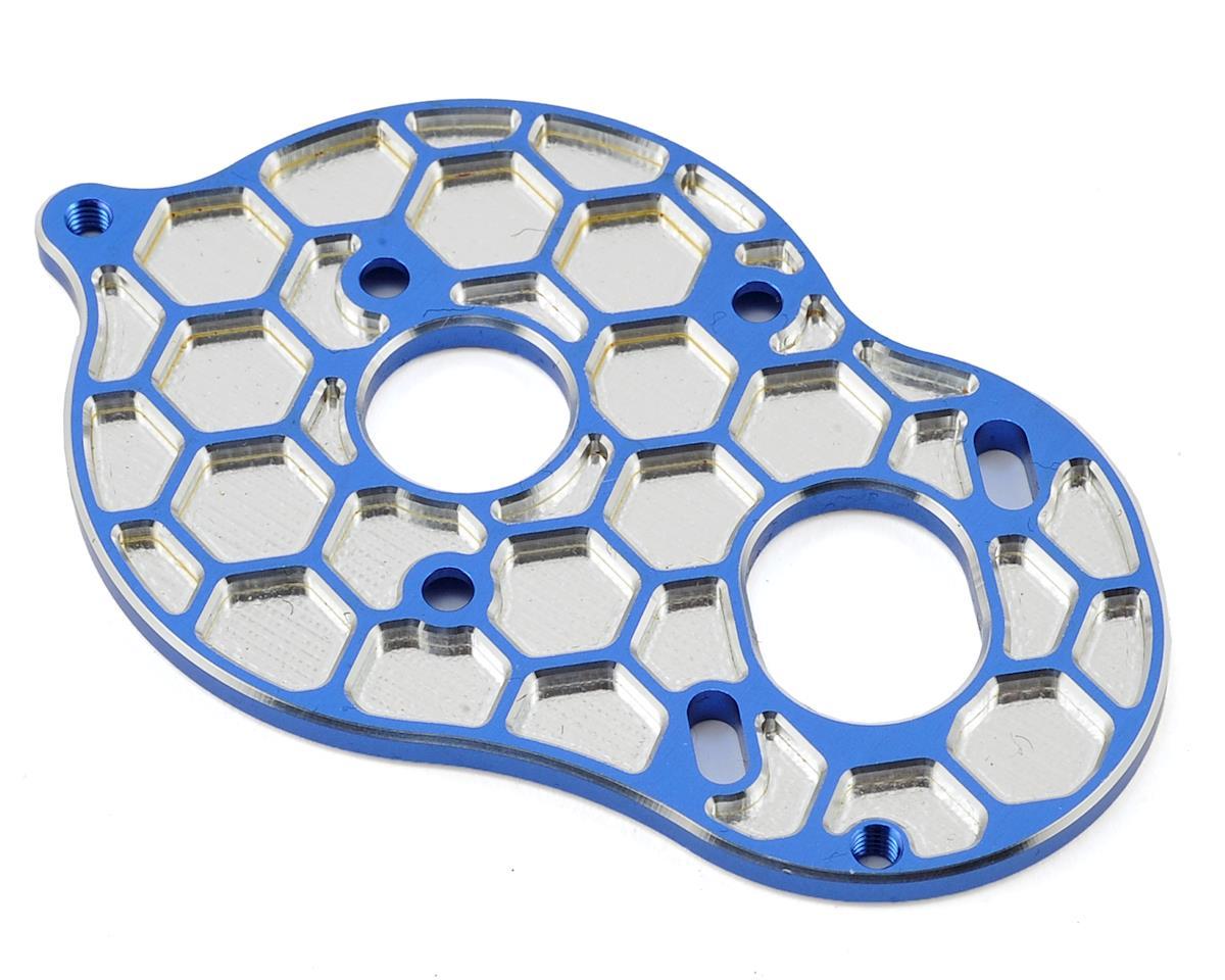 Associated B6 'Honeycomb' 3 Gear Standup Motor Plate (Blue) by JConcepts