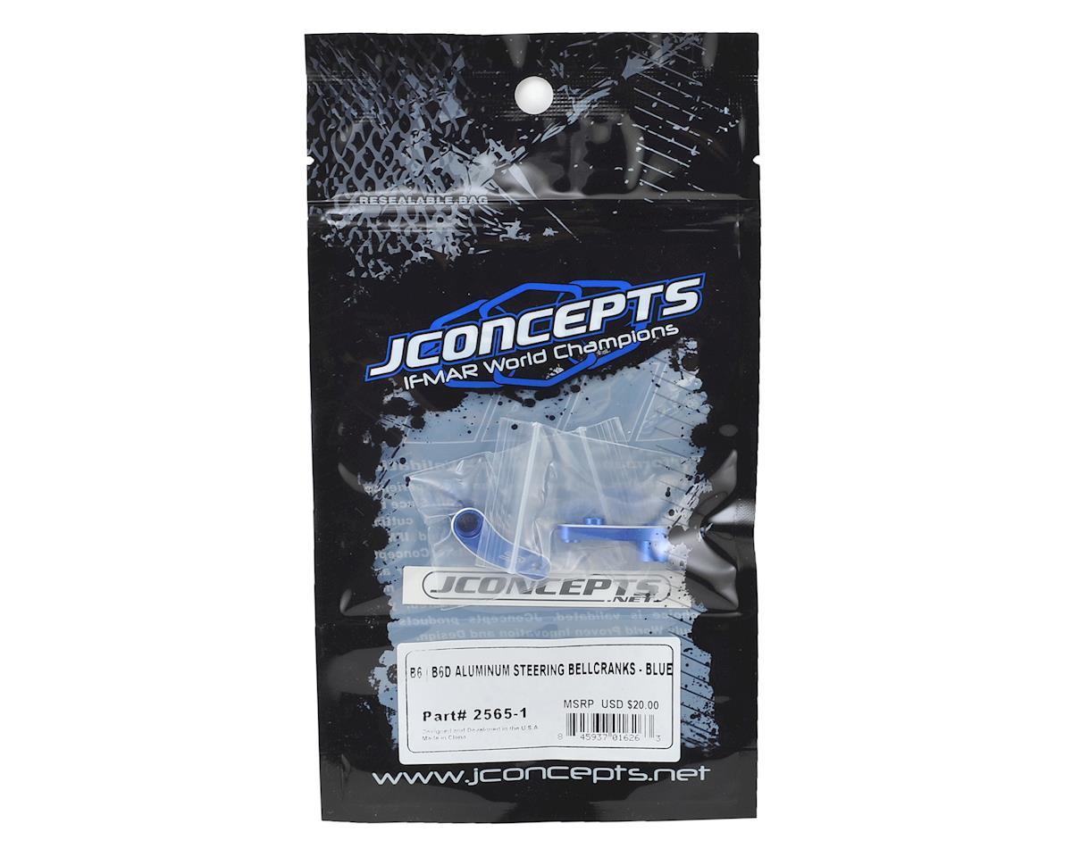 JConcepts B6/B6D Aluminum Steering Bellcrank (Blue)