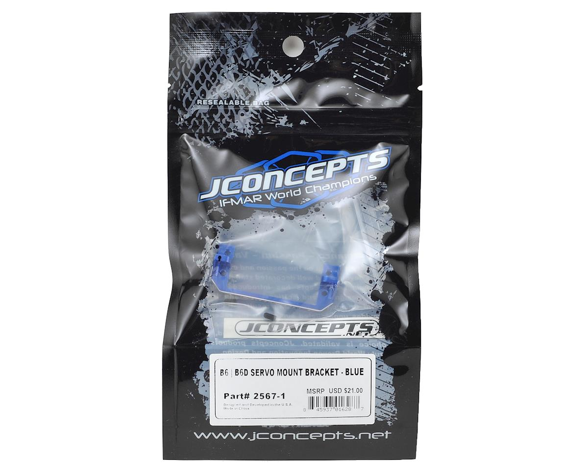 JConcepts B6/B6D Aluminum Servo Mount Bracket (Blue)