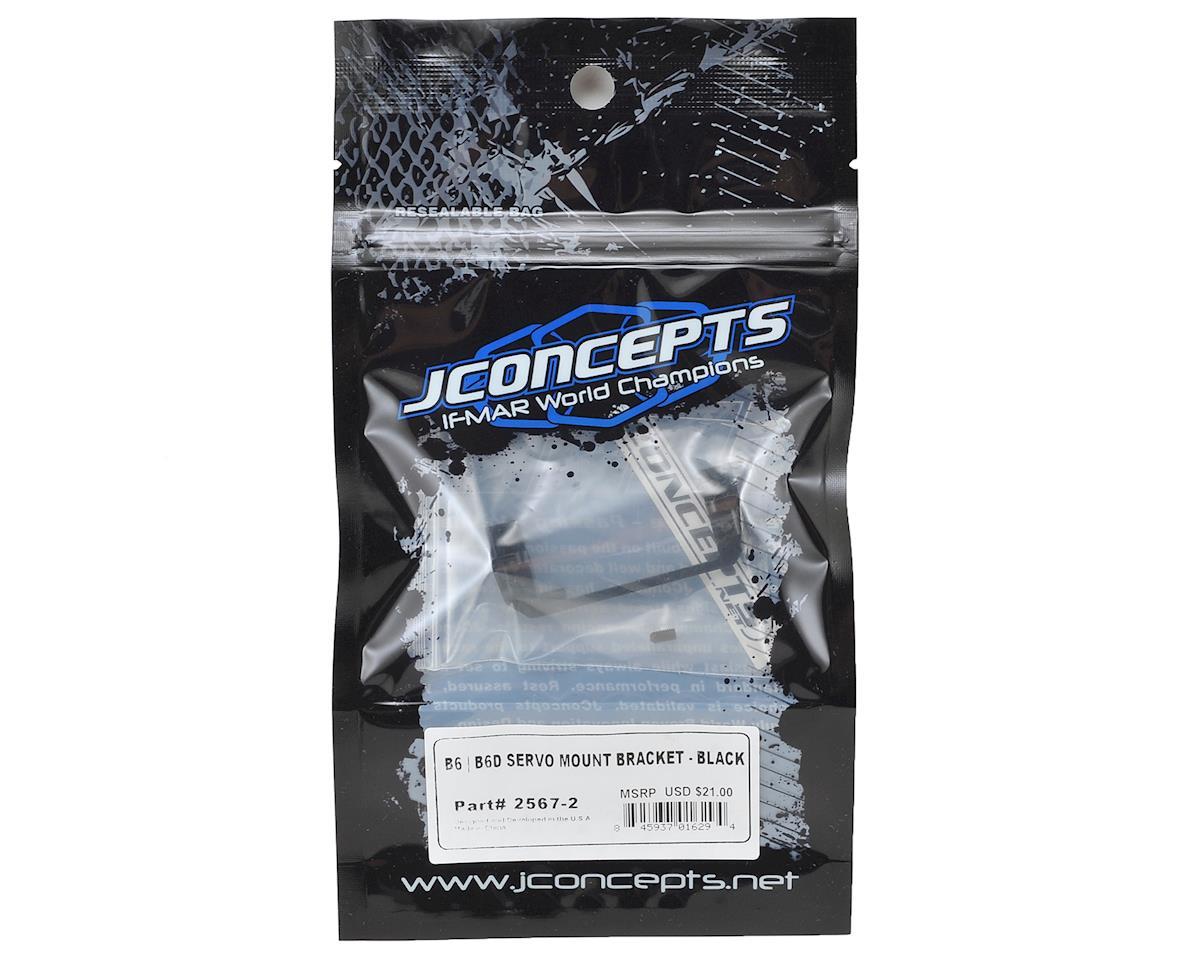 JConcepts B6/B6D Aluminum Servo Mount Bracket (Black)
