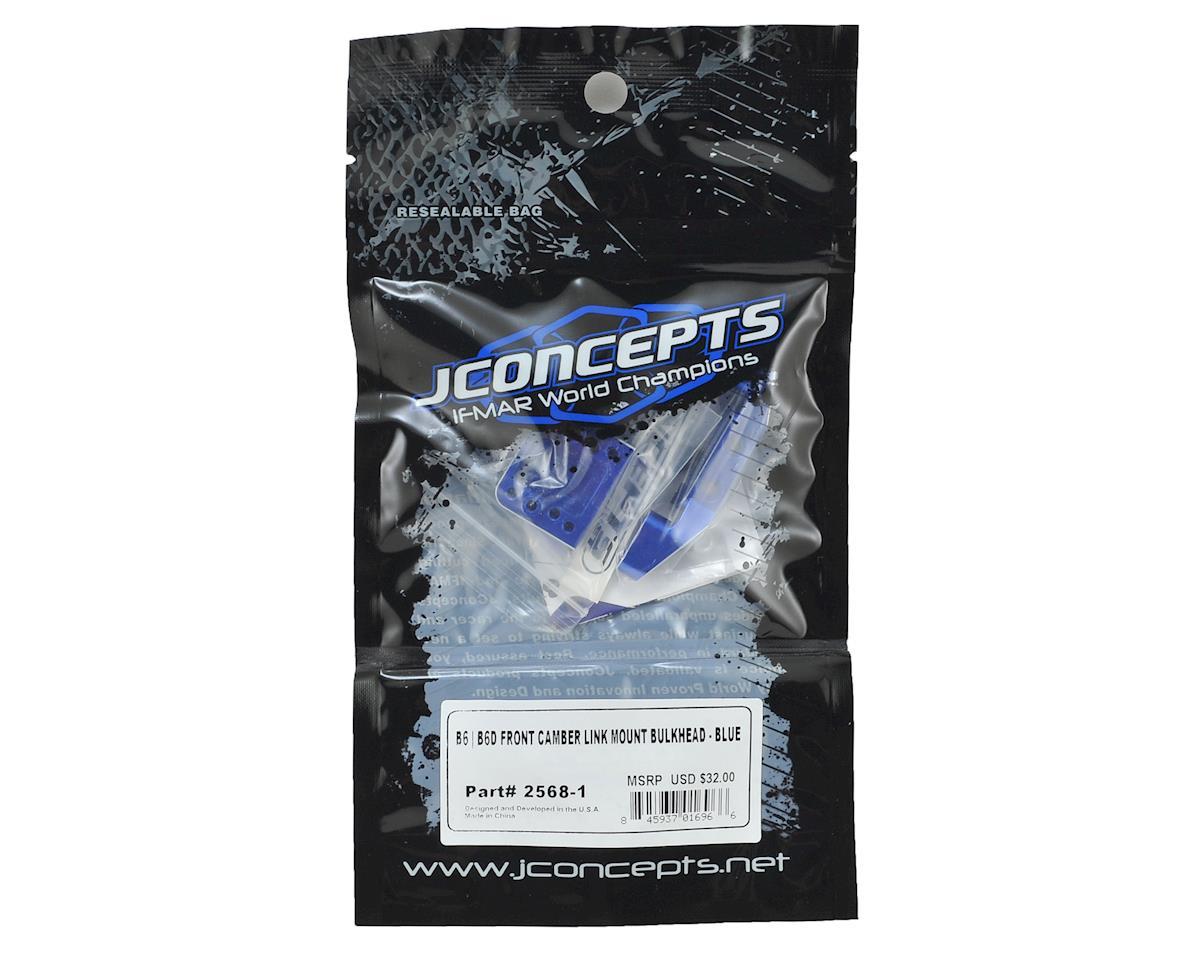 JConcepts B6/B6D Aluminum Front Camber Link Mount Bulkhead (Blue)