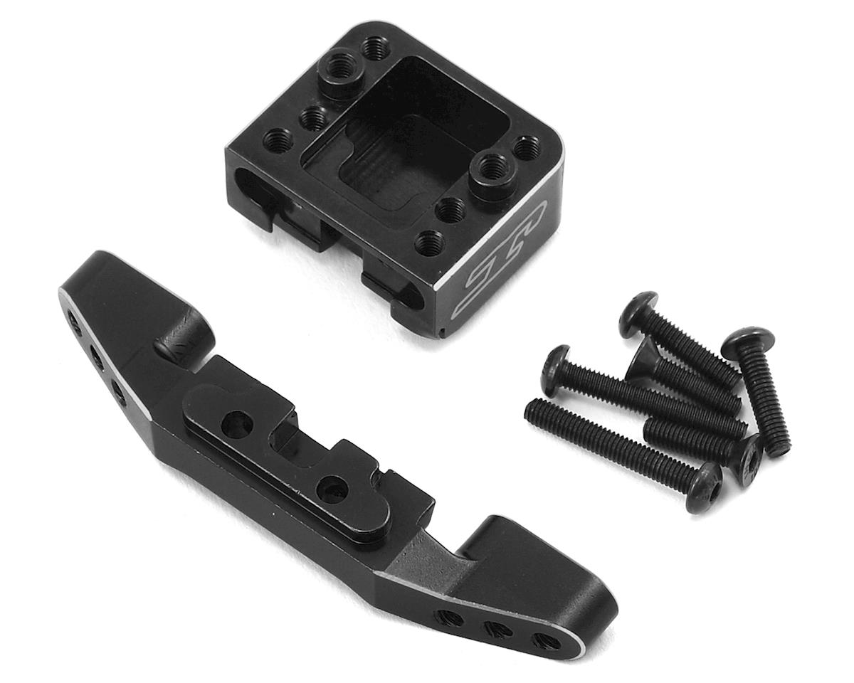 B6/B6D Aluminum Front Camber Link Mount Bulkhead (Black) by JConcepts