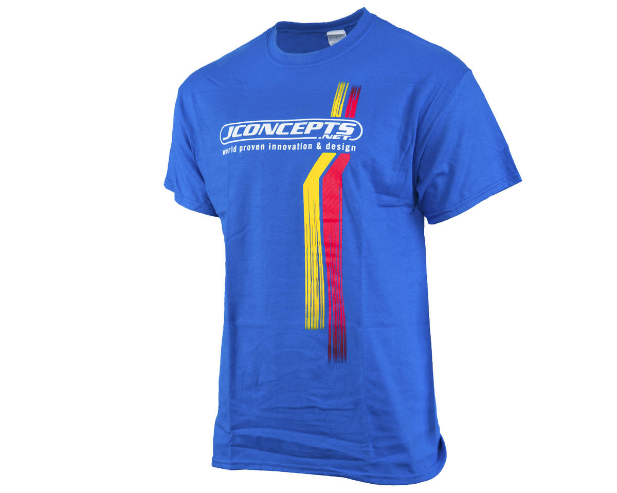 JConcepts Blue Racing Stripes T-Shirt (2XL)