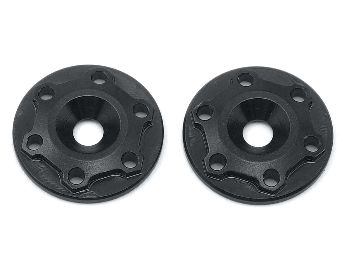 "JConcepts Aluminum B6/B6D ""Finnisher"" Wing Buttons (Black) (2)"