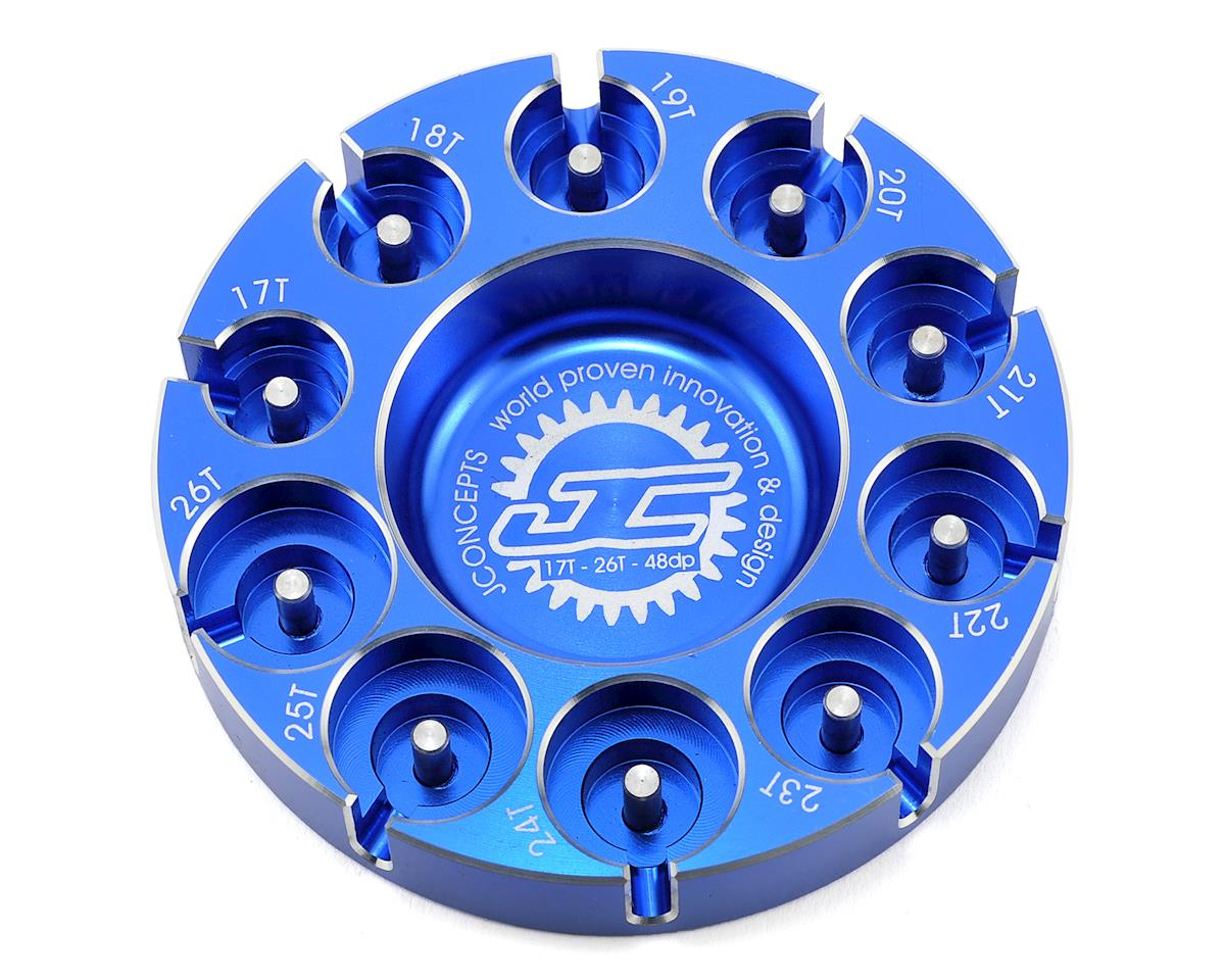JConcepts Aluminum Pinion Puck Modified Range (Blue)