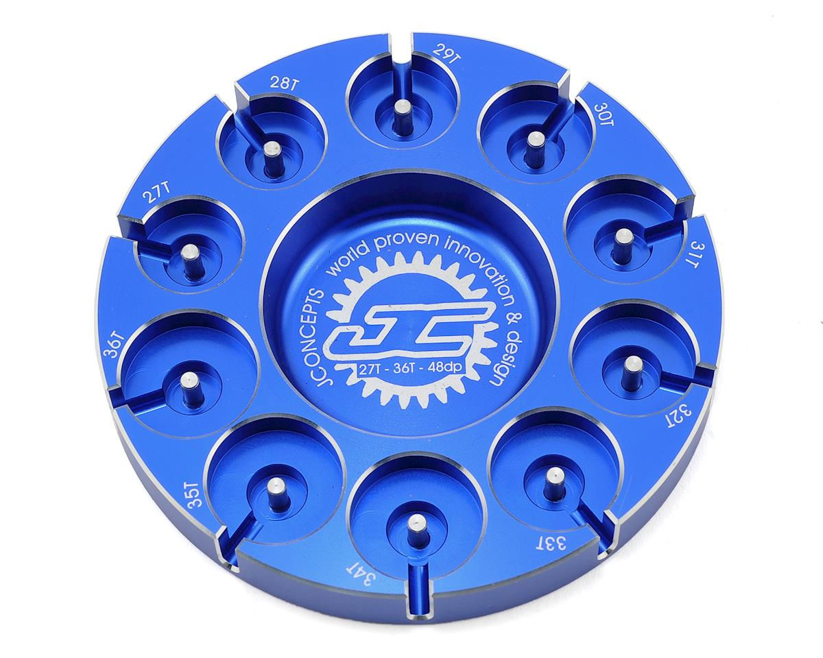 JConcepts Aluminum Pinion Puck Stock Range (Blue)