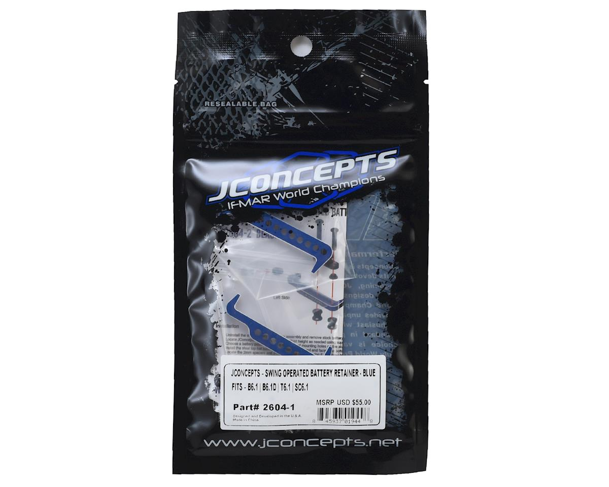 JConcepts Swing Operated Battery Retainer Set (Blue)