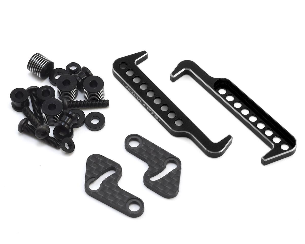 JConcepts B6.1 Swing Operated Battery Retainer Set (Black) (Team Associated RC10 SC6.1)