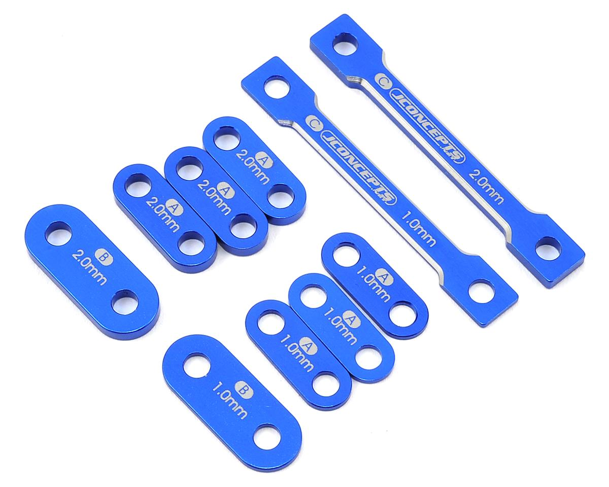 JConcepts B6/B6D Laydown Transmission & Waterfall Shim Set (Blue)