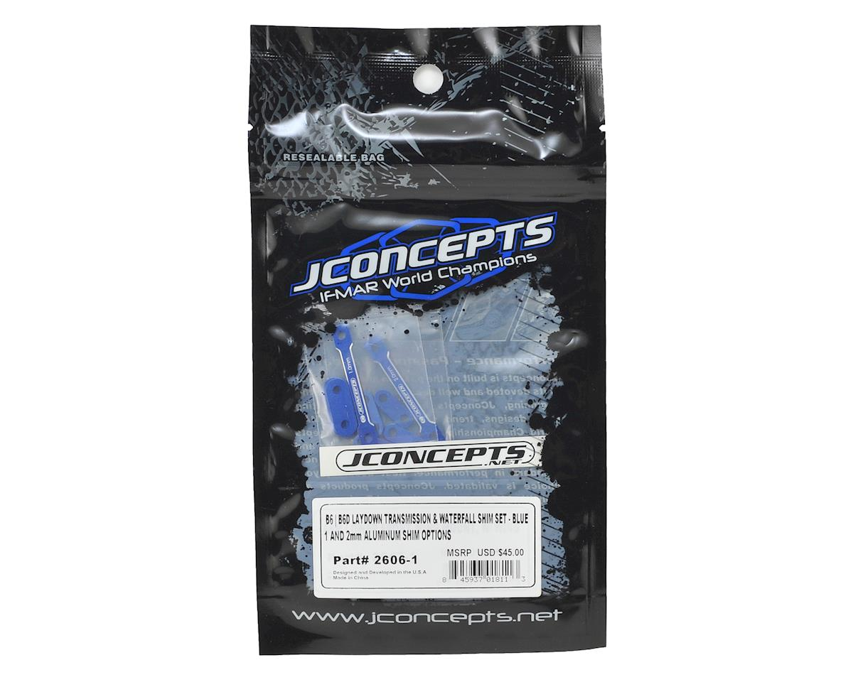JConcepts B6/B6D Laydown Transmission & Waterfall Shim Set (Blue)