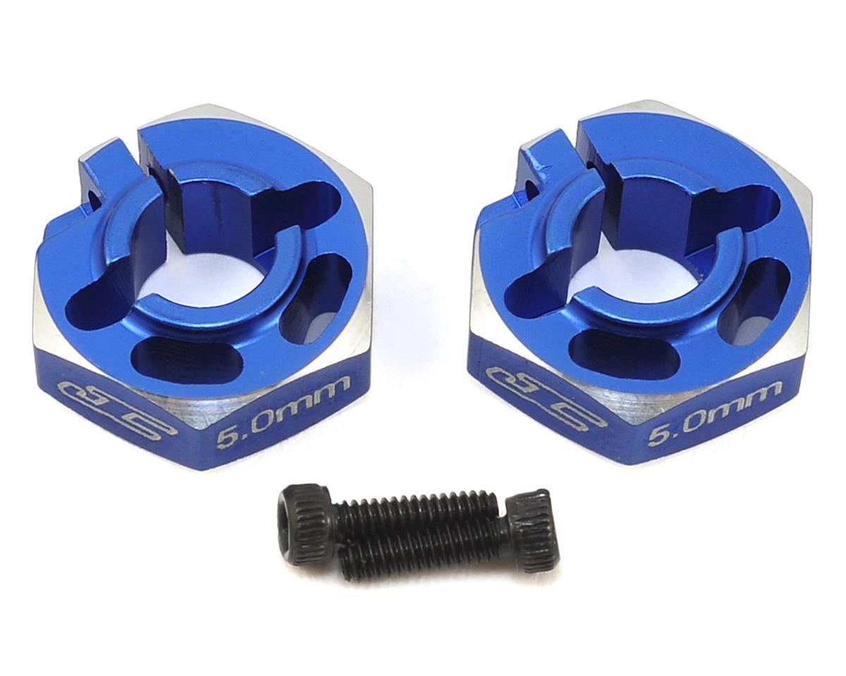 JConcepts B6/B6D 5.0mm Aluminum Lightweight Clamping Wheel Hex (2) (Blue)