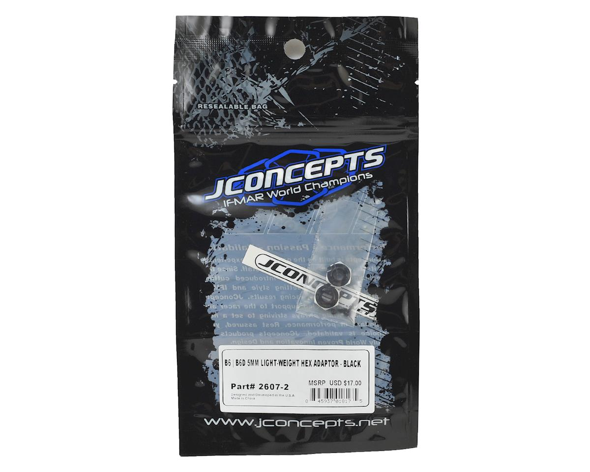 JConcepts B6/B6D 5.0mm Aluminum Lightweight Clamping Wheel Hex (2) (Black)