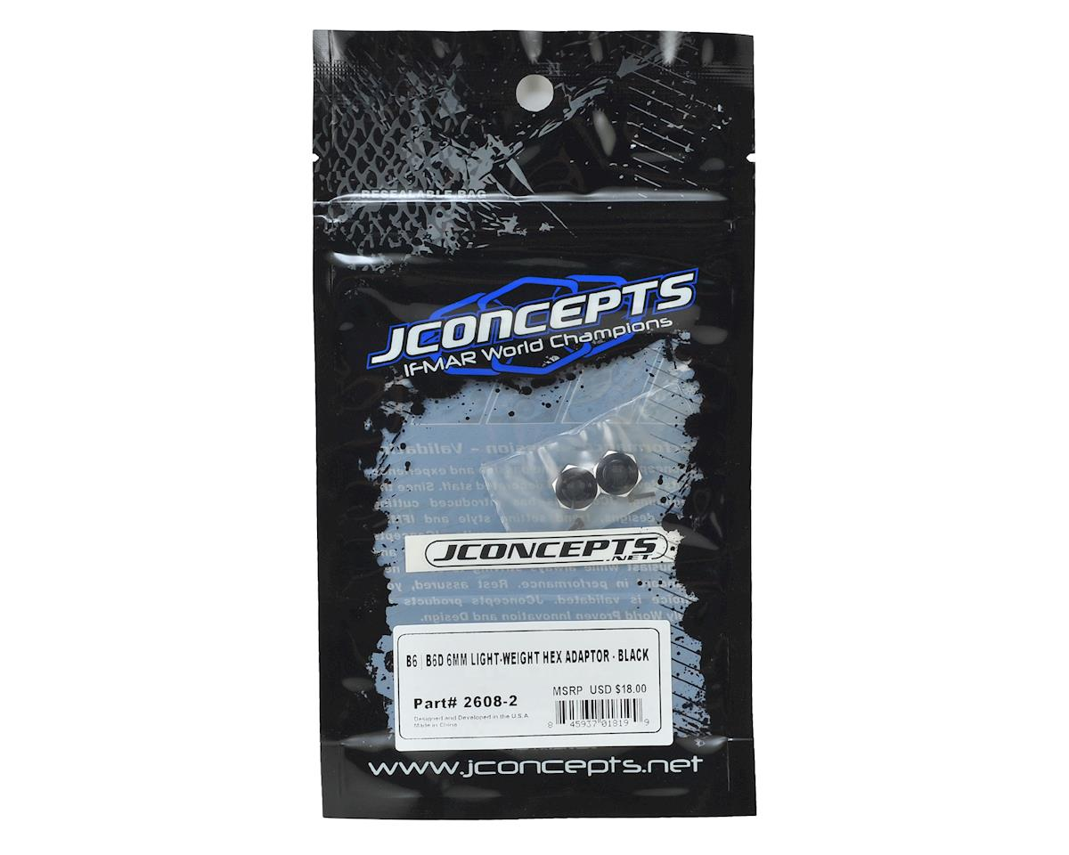 JConcepts B6/B6D 6.0mm Aluminum Lightweight Clamping Wheel Hex (2) (Black)