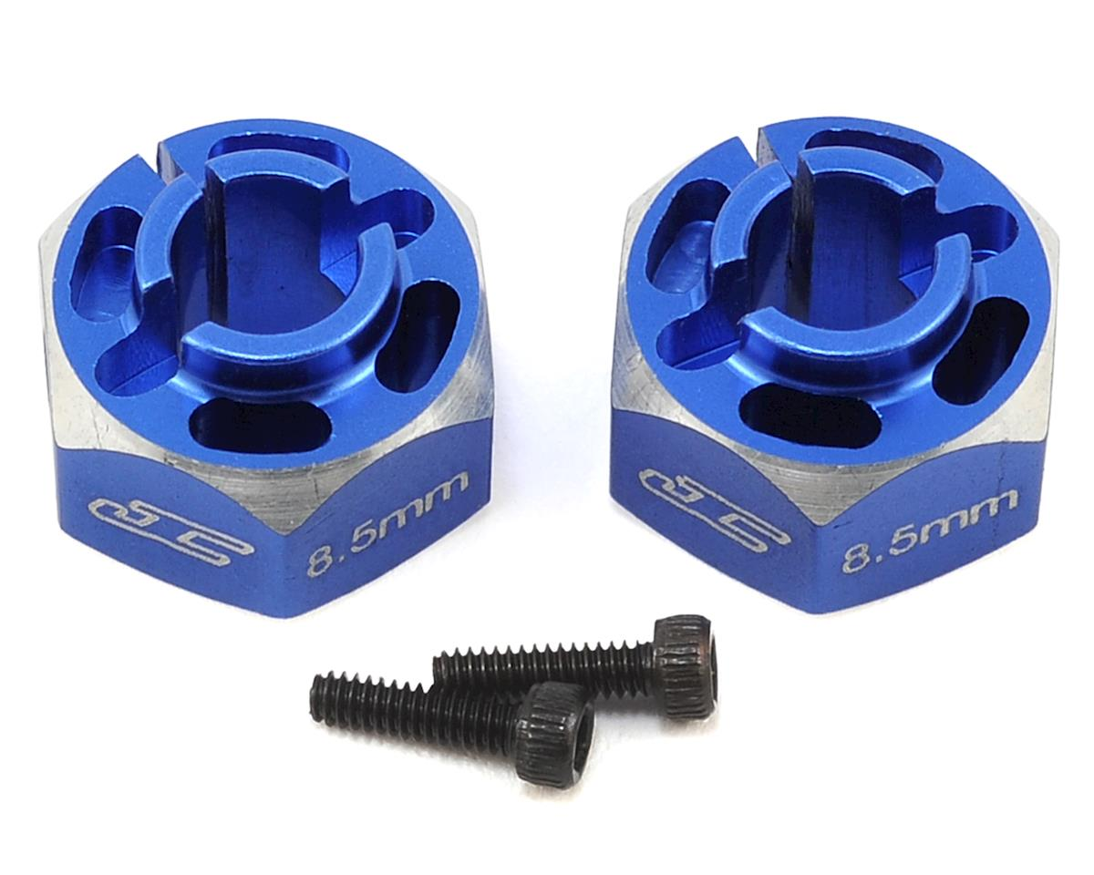 JConcepts T5M 8.5mm Aluminum Lightweight Clamping Wheel Hex (2) (Blue)