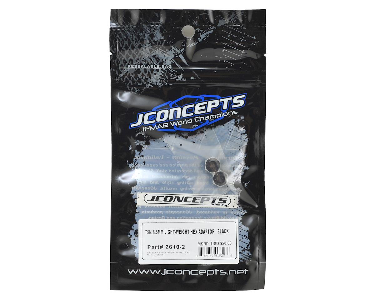 JConcepts T5M 8.5mm Aluminum Lightweight Clamping Wheel Hex (2) (Black)