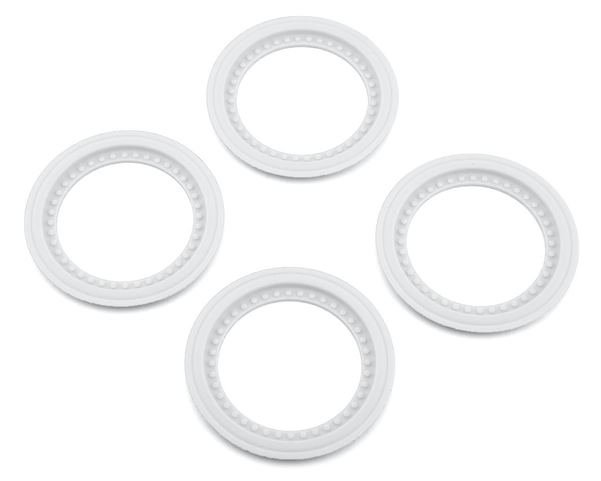 JConcepts Tribute Monster Truck Wheel Mock Beadlock Rings (White) (4)