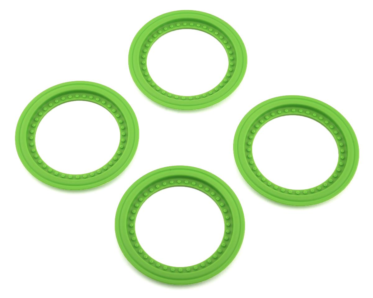 JConcepts Tribute Monster Truck Wheel Mock Beadlock Rings (Green) (4)