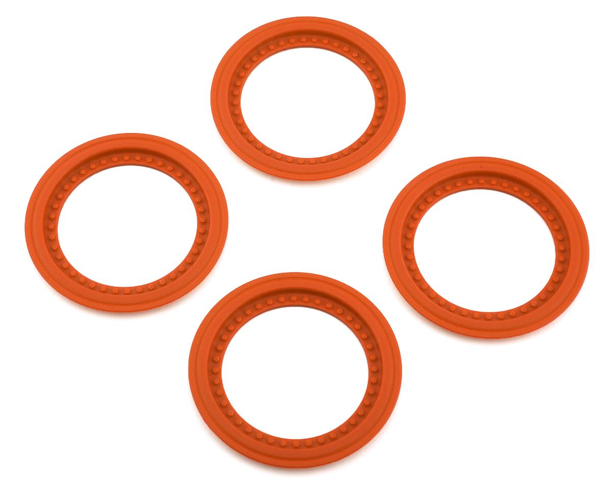 JConcepts Tribute Monster Truck Wheel Mock Beadlock Rings (Orange) (4)