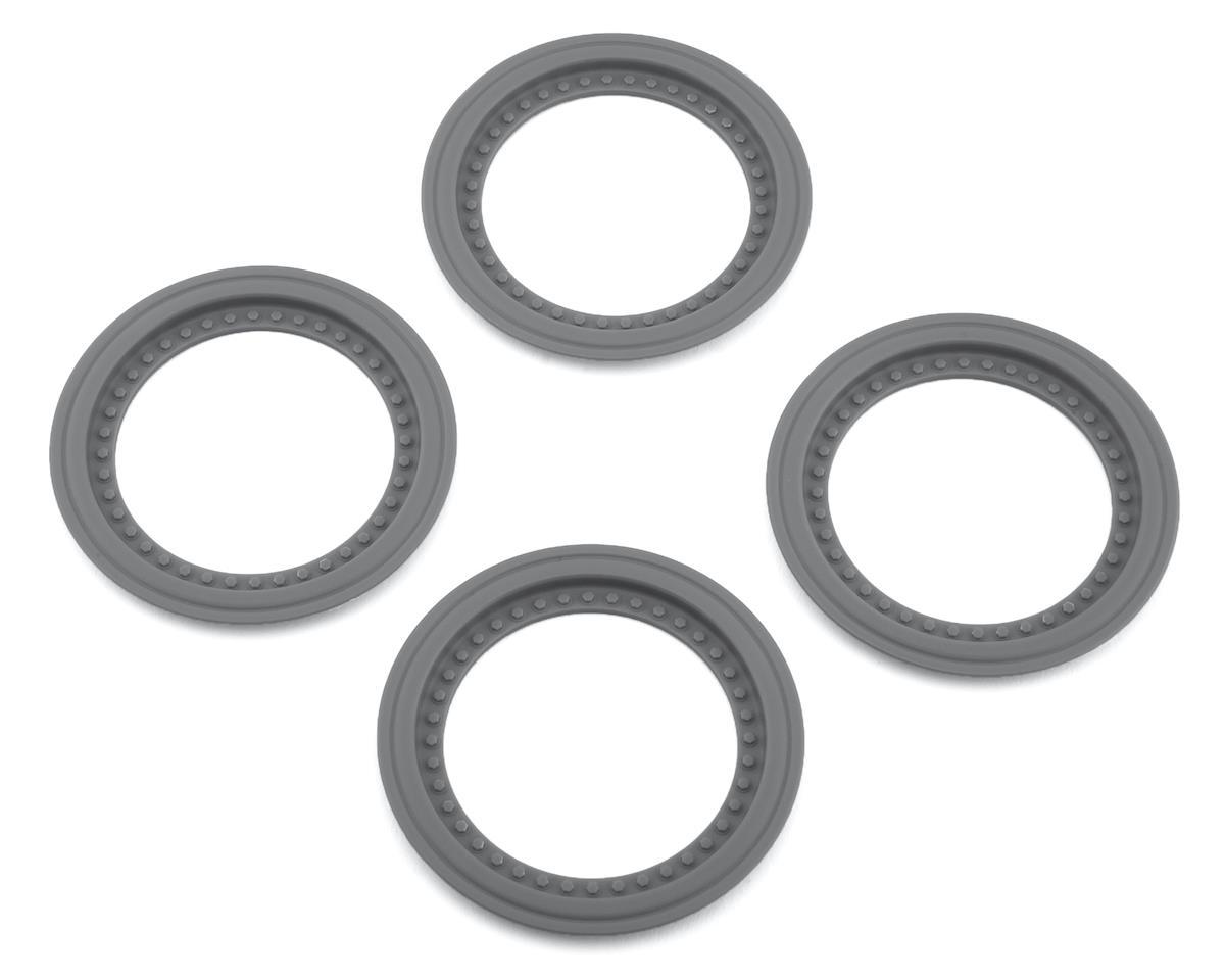 JConcepts Tribute Monster Truck Wheel Mock Beadlock Rings (Silver) (4)