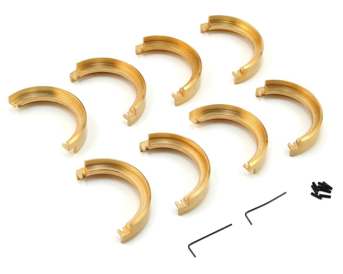 """JConcepts Torch 1.9"""" Brass C-Shape Wheel Weights (4)"""