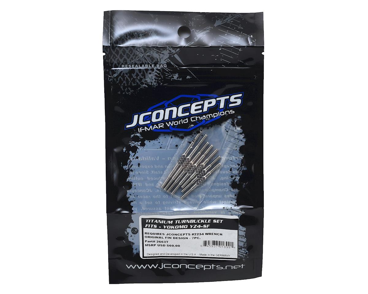 JConcepts Yokomo YZ4-SF Fin Titanium Turnbuckle Set (7)