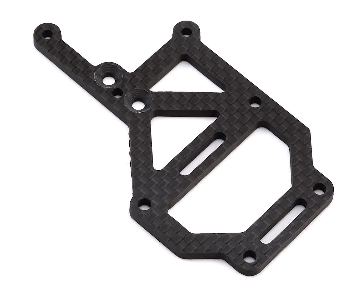 Tekno EB410 Carbon Fiber Off-Set Upper Deck Fan Mount by JConcepts