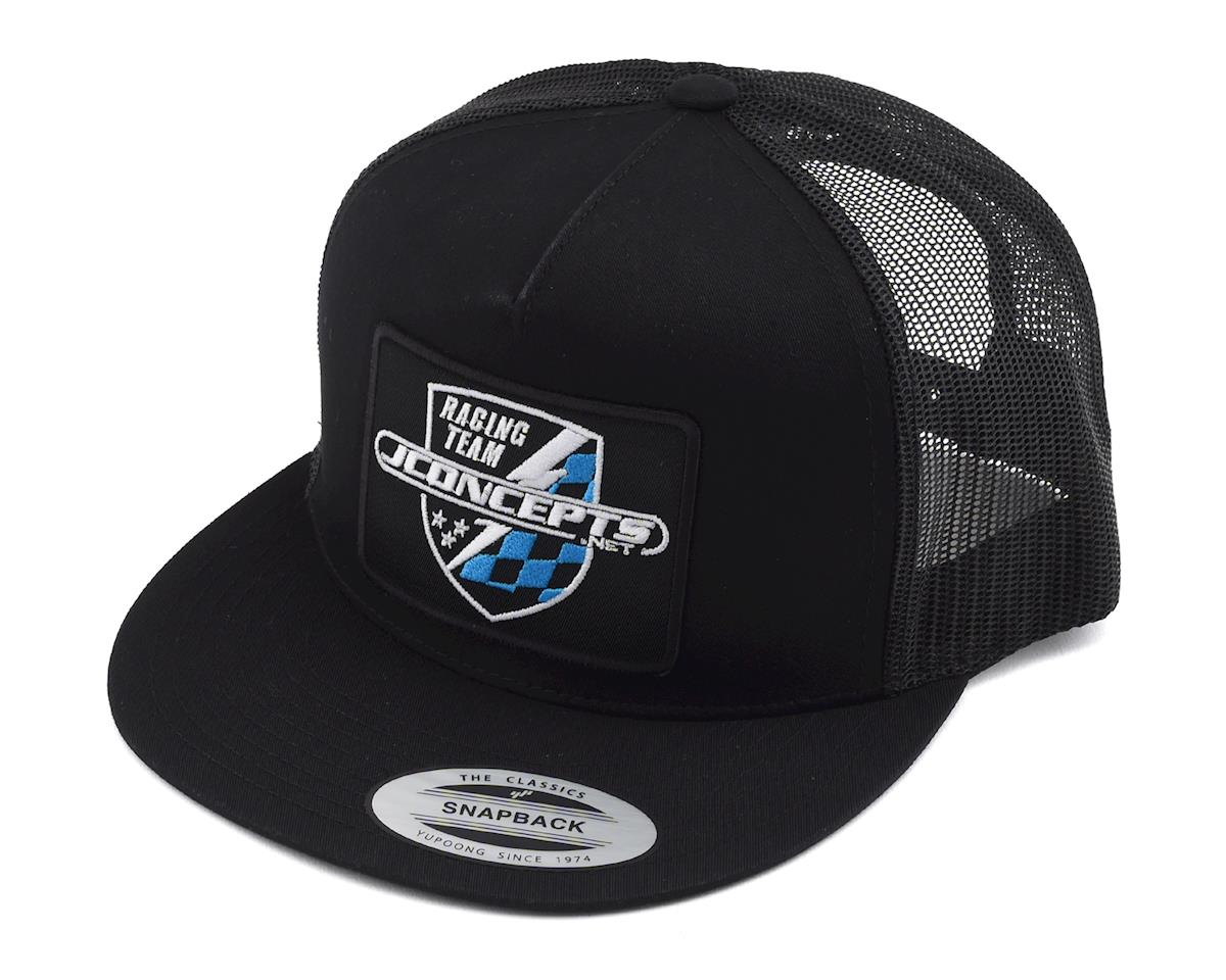 JConcepts Finish Line Snapback Flatbill Hat (Black)