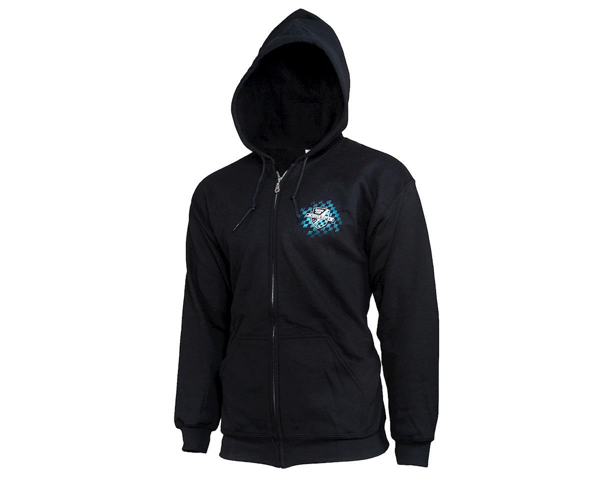 JConcepts Finish Line Zip-Up Hoodie Sweatshirt (Black) (2XL)