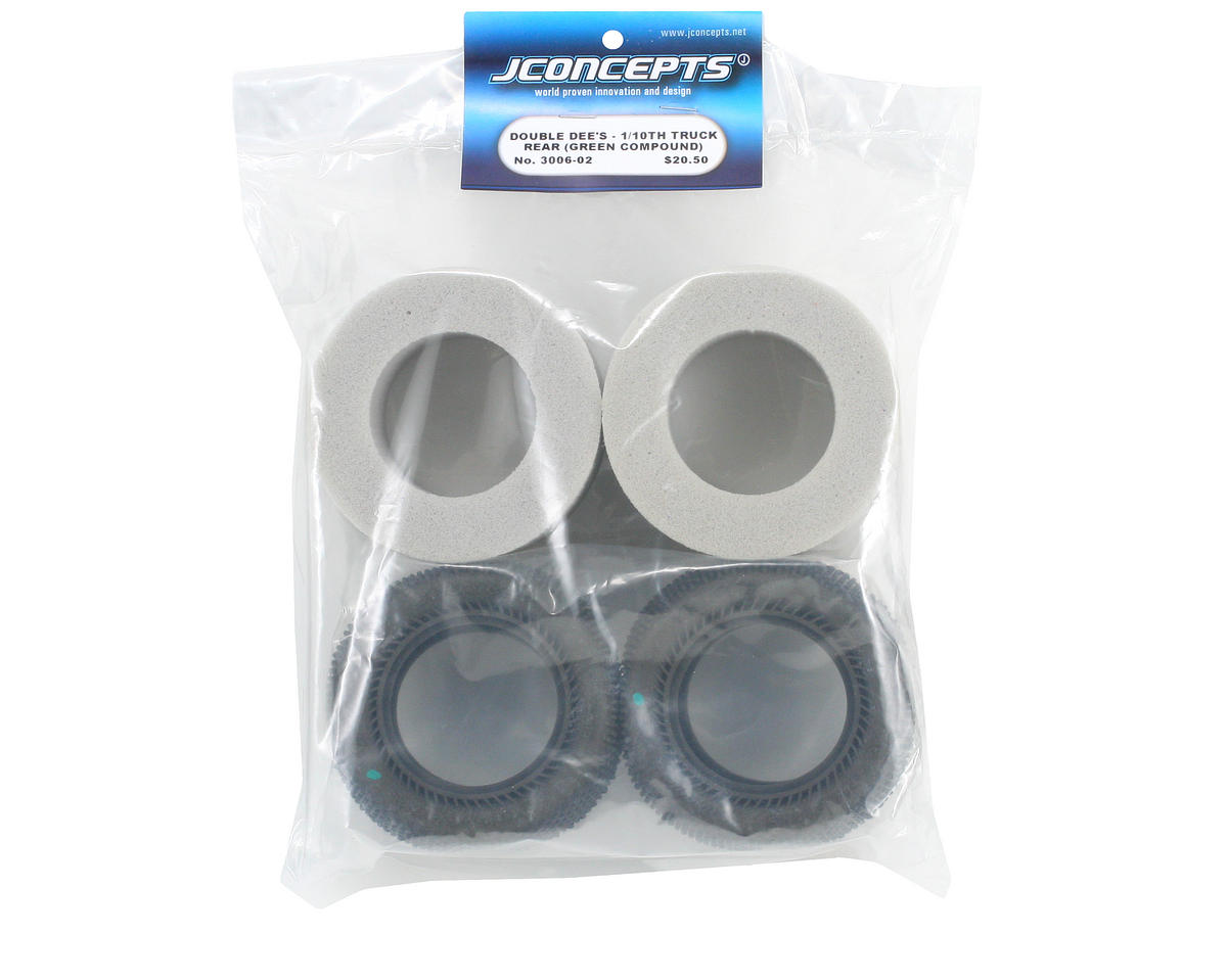 """Double Dee's 2.2"""" 1/10 Truck Tires (2) (Green) by JConcepts"""