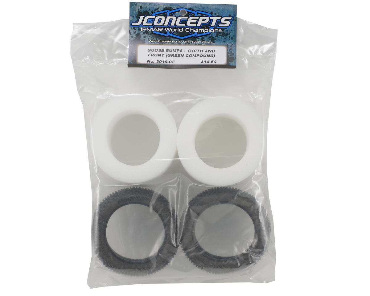 """Goose Bumps 2.2"""" Front 4WD Buggy Tires (2) (Green) by JConcepts"""