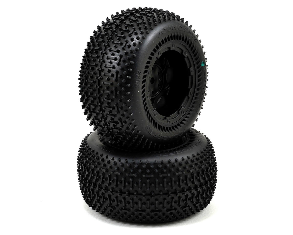 JConcepts Goose Bumps 2.8 Pre-Mounted Rear Wheels (Tense) (2) (Black)