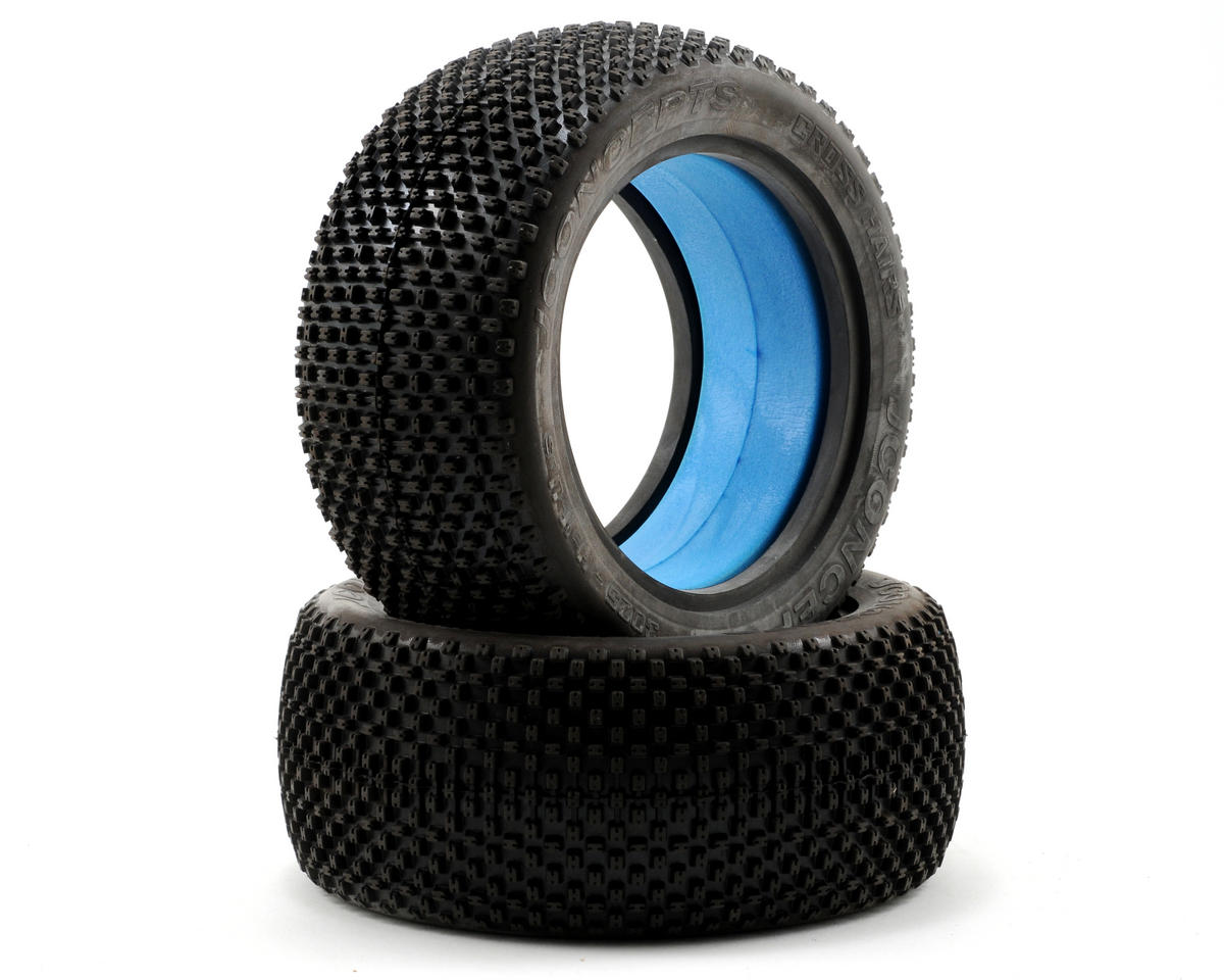 JConcepts Cross Hairs Half-Ups 1/8th Truggy Tires (Blue) (2)