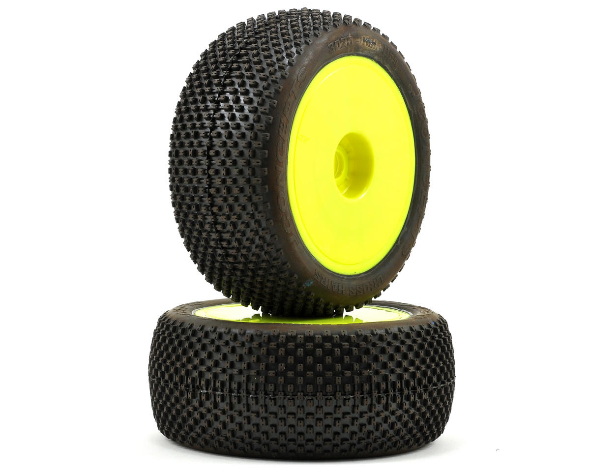 JConcepts Cross Hairs Half-Ups Pre-Mounted 1/8th Truggy Tires (2)