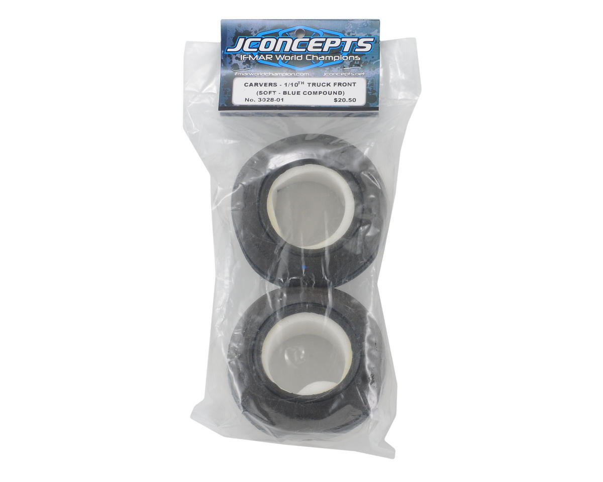 "JConcepts Carvers 2.2"" Truck Front Tires (2) (Blue)"