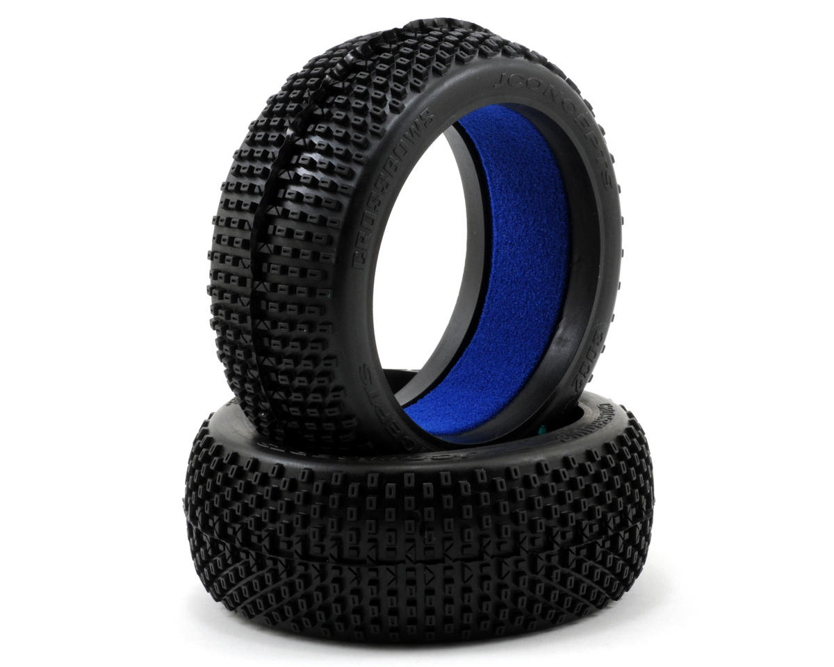 Crossbows 1/8th Buggy Tires (2) (Green) by JConcepts