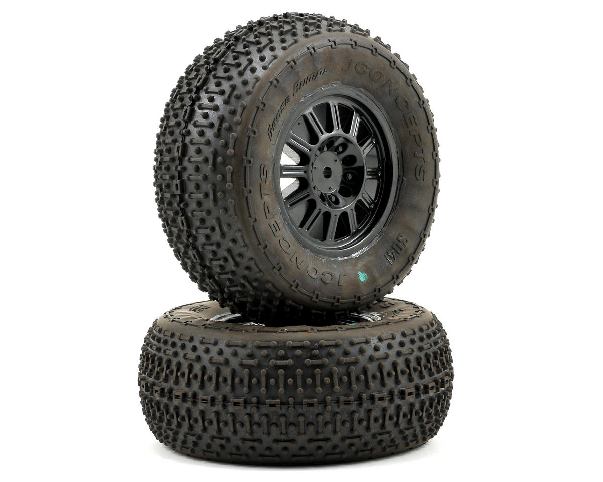 JConcepts Goose Bumps Pre-Mounted SC Tires (Rulux) (2) (SC10 Rear)