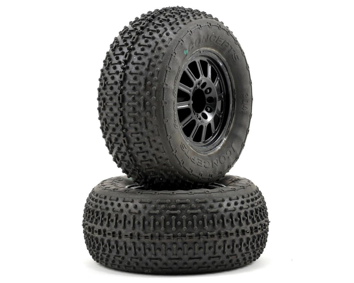 JConcepts Goose Bumps Pre-Mounted SC Tires (Rulux) (2) (Slash Front)
