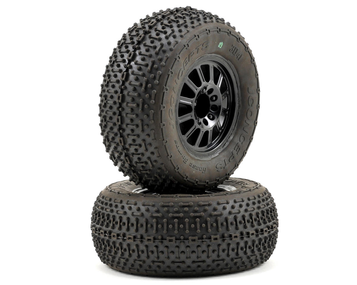 JConcepts Goose Bumps Pre-Mounted SC Tires (Rulux) (2) (Slash Rear) (Green)