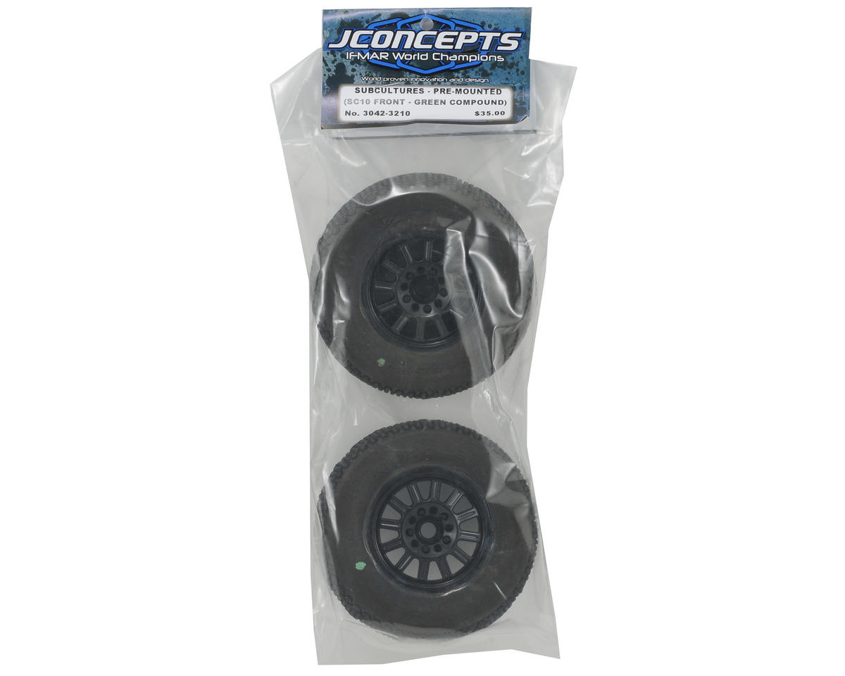 JConcepts Subcultures Pre-Mounted SC Tires (Rulux) (2) (SC10/Front)