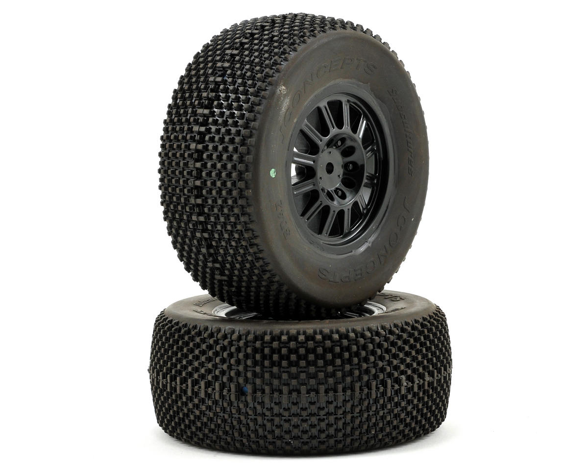 JConcepts Subcultures Pre-Mounted SC Tires (Rulux) (2) (SC10 Rear)
