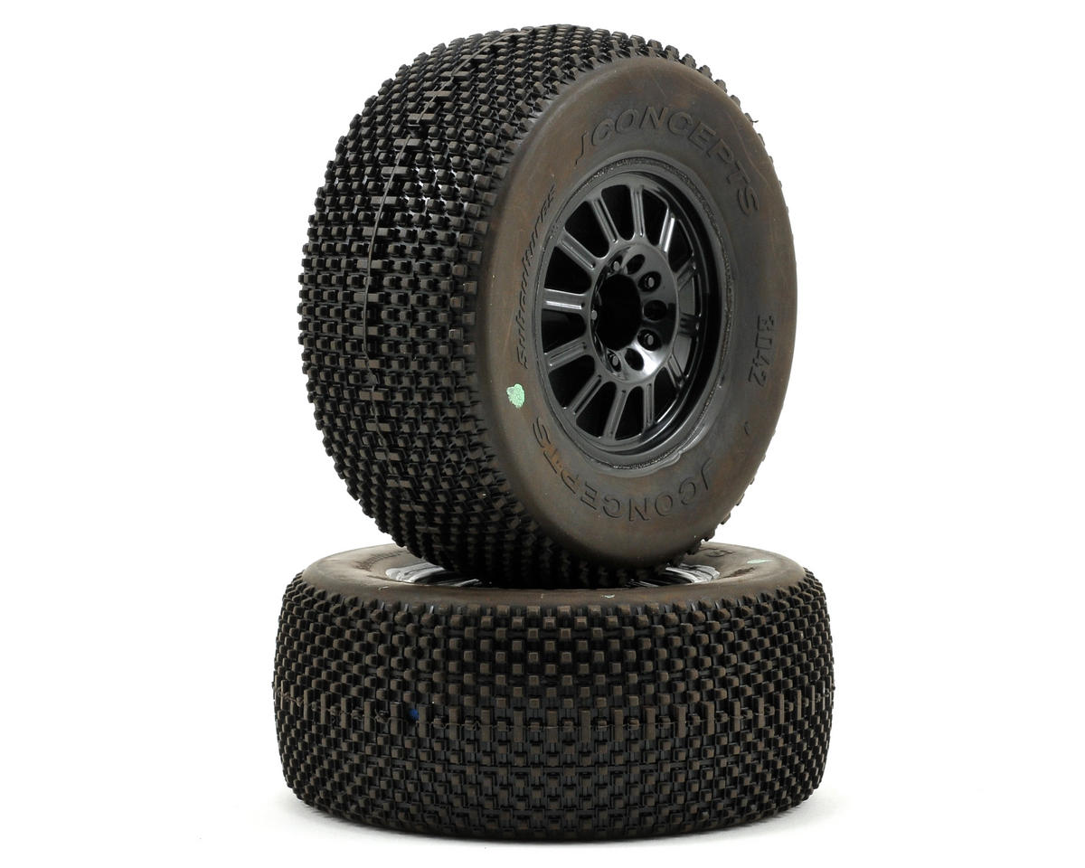 JConcepts Subcultures Pre-Mounted SC Tires (Rulux) (2) (Green)