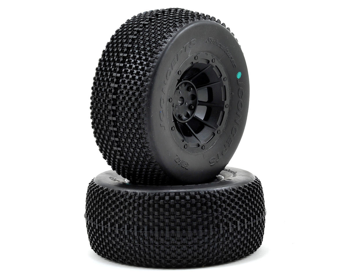 JConcepts Subcultures Pre-Mounted SC Tires (Hazard) (2) (Slash Rear) (HPI Racing Blitz)