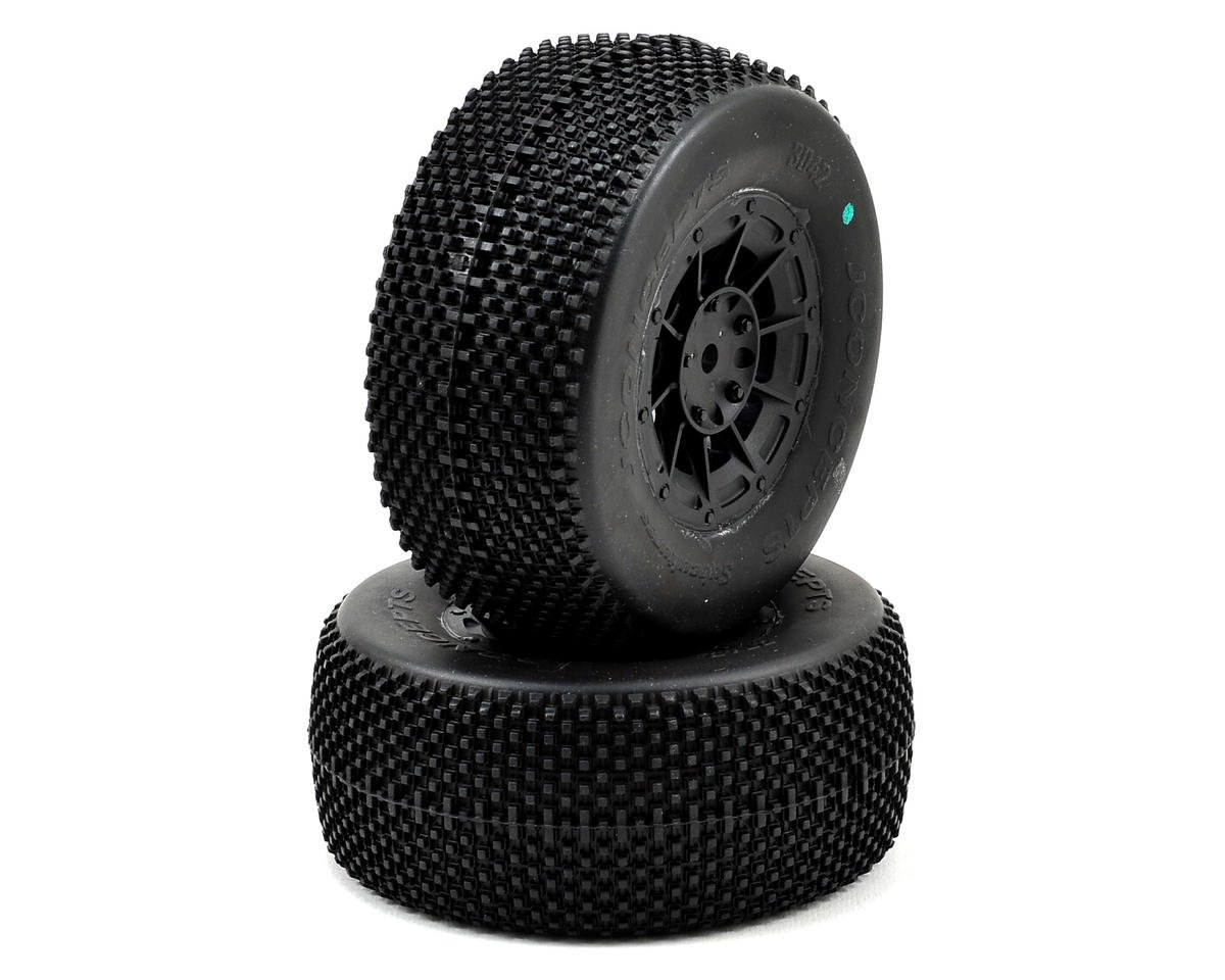 JConcepts Subcultures Pre-Mounted SC Tires (Hazard) (2) (Losi TEN-SCTE)