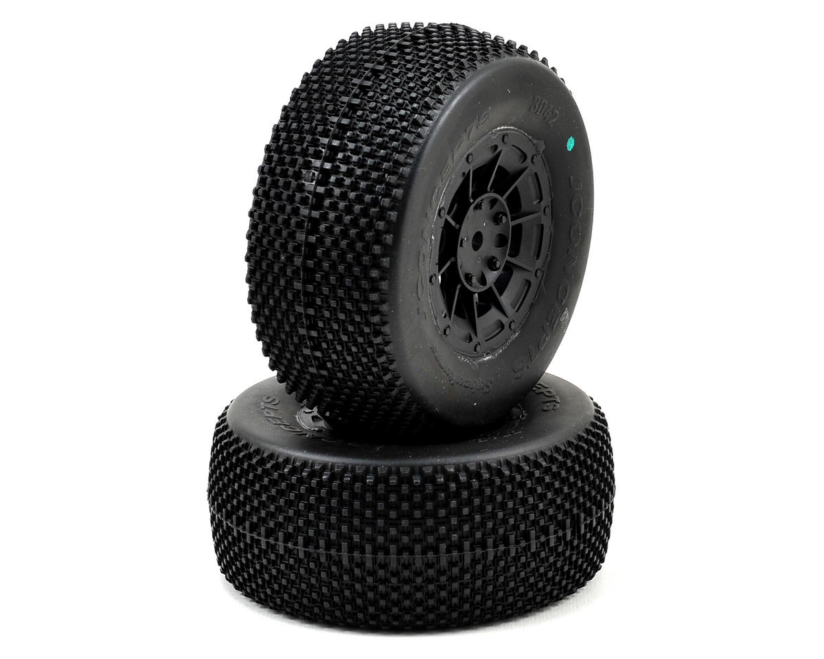 Subcultures Pre-Mounted SC Tires (Hazard) (2) (TEN-SCTE) (Green) by JConcepts
